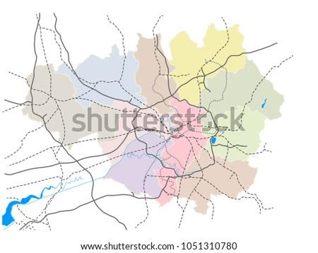 Manchester England Greater Manchester Transportation Schematics ...