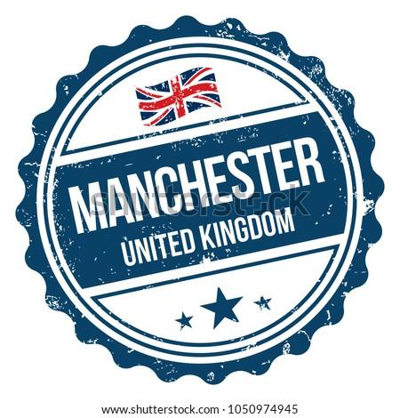 Manchester United Kingdom Vector Rubber Stamp