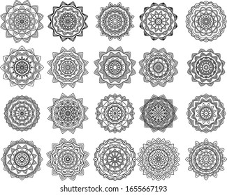 Mandala 20 Collections ornament for background and wallpaper. premium vector