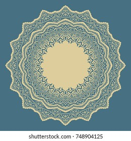 mandala abstract flower or floral vector background color