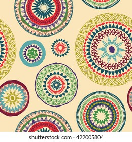 Mandala. Abstract round ornament seamless vector pattern