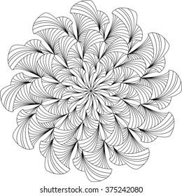 Mandala, Erwachsenenfarbseite, Vorlage, Vektorillustration, zirkuläres Muster