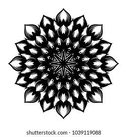 Mandala. Arabesque. Round pattern. Vector illustration.