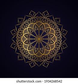 mandala art golden illustration design
