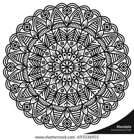 Mandala Art Shapes Nature Easy Editable Stock Vector Royalty Free