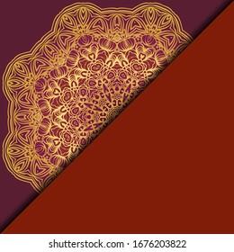 Mandala background for book cover, invitation. Vector illustration