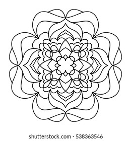 Mandala background. Round ethnic ornament. Coloring book for adult.Symbol