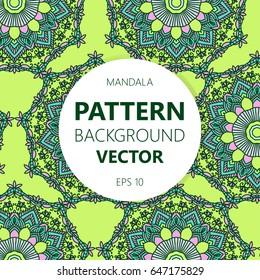 Mandala background. Vector vintage ethnic pattern for print. Islam, Arabic, Indian, moroccan,spain, turkish, pakistan, motifs.