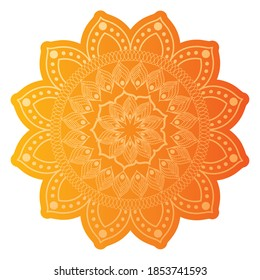 mandala of color pale narange with a white background vector illustration design