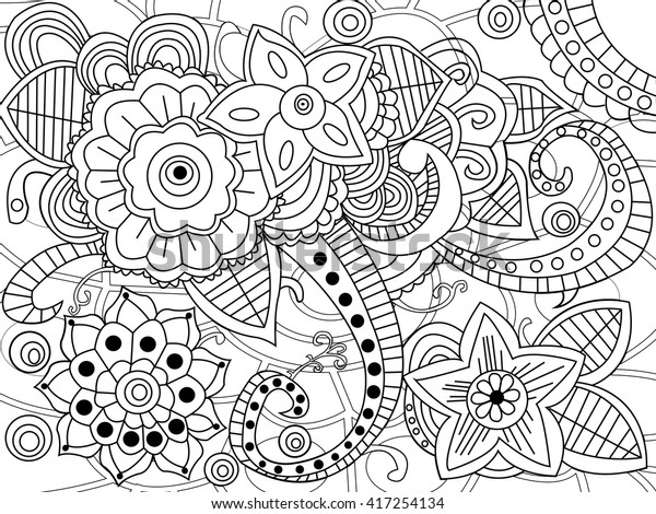 Mandala Coloring Book Adults Vector Illustration Stock ...