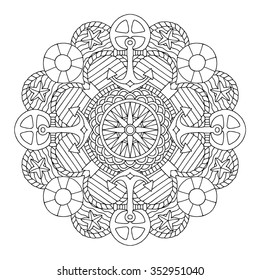 Mandala. Coloring book page.