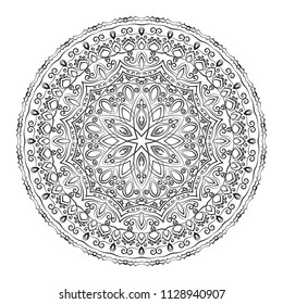 Mandala, Coloring book pages, Vintage decorative elements, Oriental pattern, Vector illustration, Islam, Arabic, Indian, moroccan,spain, turkish, pakistan, chinese, ottoman motifs.