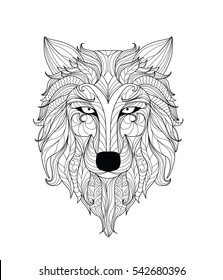 wolf drawing images stock photos vectors