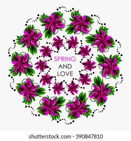 Mandala in colors for a good and positive spring. Can be use for flower bouquets card sales, as an accessory to the color or pattern on the plates and dishes and other