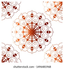 Mandala is a complex abstract design, which usually forms a circle. In essence, the Mandala is the relationship between the inner world and the realistic outside