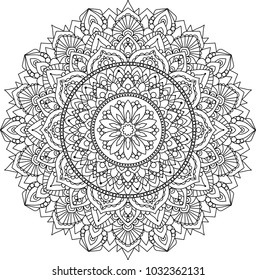 Mandala. Decorative vector element. For coloring.Islam, Indian, Persian pattern