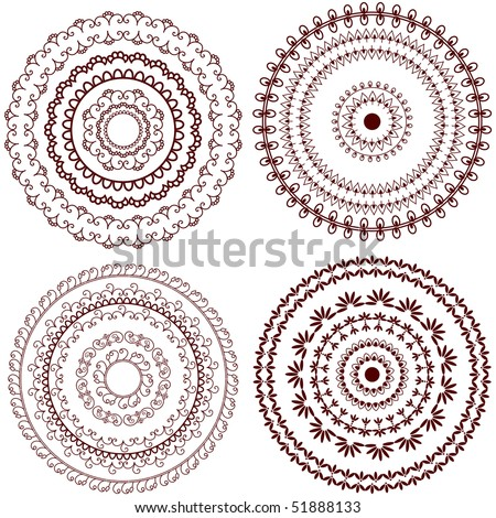 Mandala Design Henna Art Inspired Easily Stock Vector Royalty Free