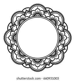 Mandala design, Mehndi henna tattoo inspired round pattern