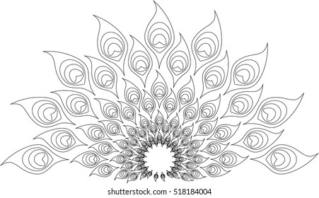 Mandala design that can be used for coloring book or mehendi