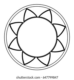 mandala, ethnic oriental circle ornament. monochrome abstract floral element