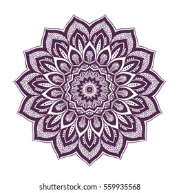 Mandala. Ethnic round ornament. Vector art