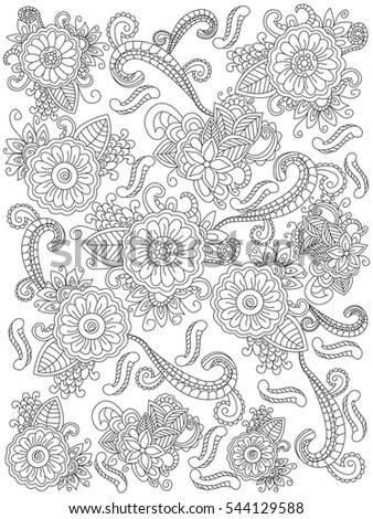 Mandala Flower Coloring Book Adults Vector Stock Vector (Royalty ...