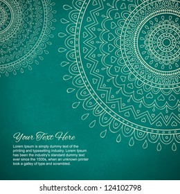 Mandala gift card with ornaments and place for your text