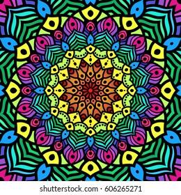 Mandala - Hindu symbol that creates a beautiful colorful pattern in vector format