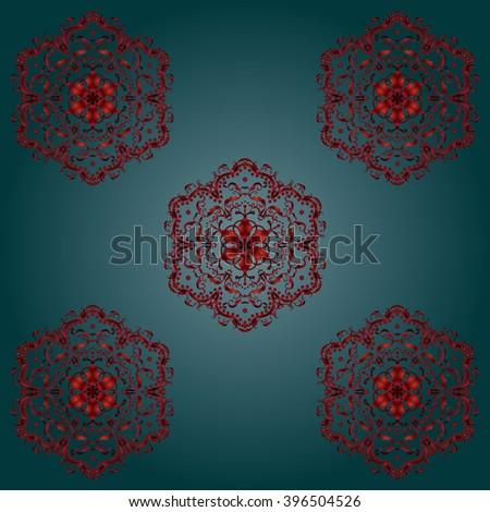 Mandala Indian Floral Patterns Silk Oriental Stock Vector Royalty