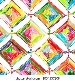 Mandala knitting, seamless pattern for your design