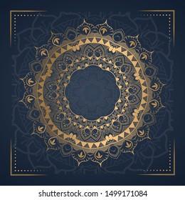 Mandala Luxury Background  for wedding invitation, book cover
