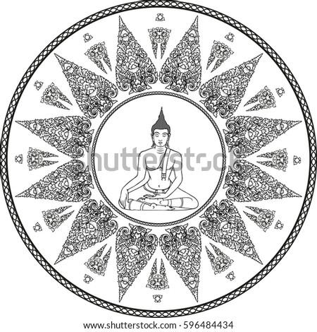 Mandala Magic Symbol Ethnic Thai Oriental Stock Vector Royalty Free