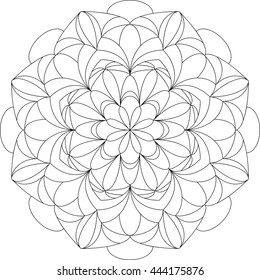 Mandala Meditation, Coloring Book for Adults