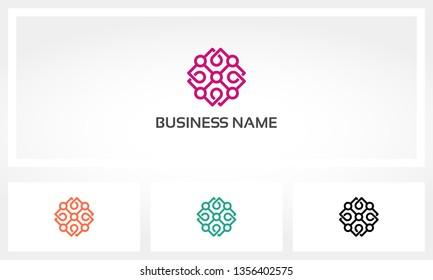 Mandala Node Lily Lotus Logo