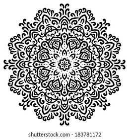 Mandala ornament. Celtic style or indian lace. Vector element for your design.