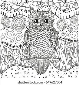 Imágenes Fotos De Stock Y Vectores Sobre Owl Coloring Book