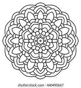 Mandala for painting and coloring.