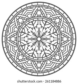 Mandala For Painting. Vector Ethnic Oriental Circle Ornament.