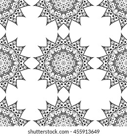 Mandala pattern. Very beautiful oriental pattern. Sun symbol.
