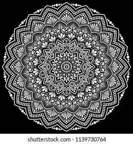 Mandala pattern white good mood