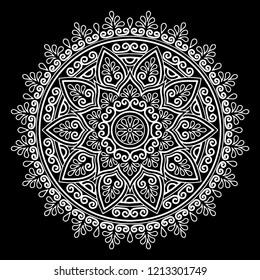Mandala pattern white good mood