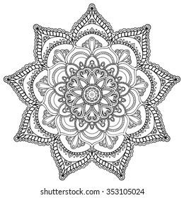 Mandala. Round Ornament