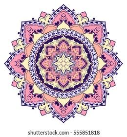 Mandala. Round Ornament Pattern. Geometric circle element made in vector. Spiritual and ritual symbol of Islam, Arabic, Indian