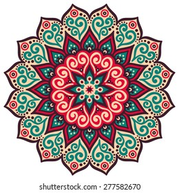 Mandala. Round Ornament Pattern. Vintage decorative elements. Hand drawn background. Islam, Arabic, Indian, ottoman motifs.