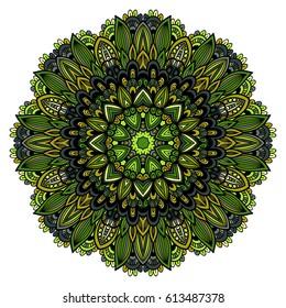 Mandala. Round Ornament Pattern.Geometric circle element made in vector.