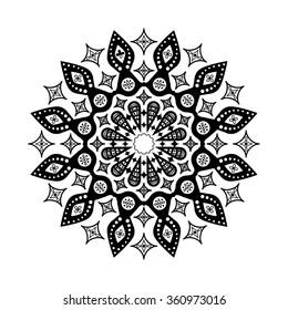 Mandala. Round ornamental pattern