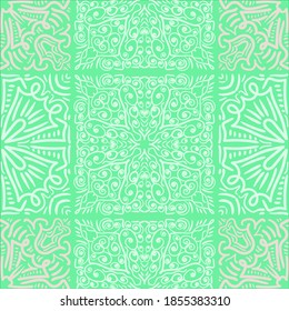 Mandala. Seamless abstract pattern. Vector illustration background. Trendy seamless diwali, fabric texture. Indian or Arabic motifs.
