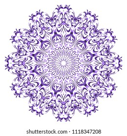 Mandala Style Vector Color Shapes. Abstract design. Fantastic decoration for fashion, holiday card, relax illustration