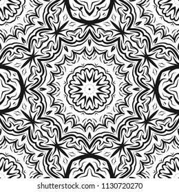 Mandala Style Vector Color Shapes. Abstract design. Decoration for fashion, holiday card, fantastic relax.