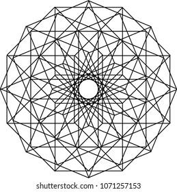 Mandala Type Pattern